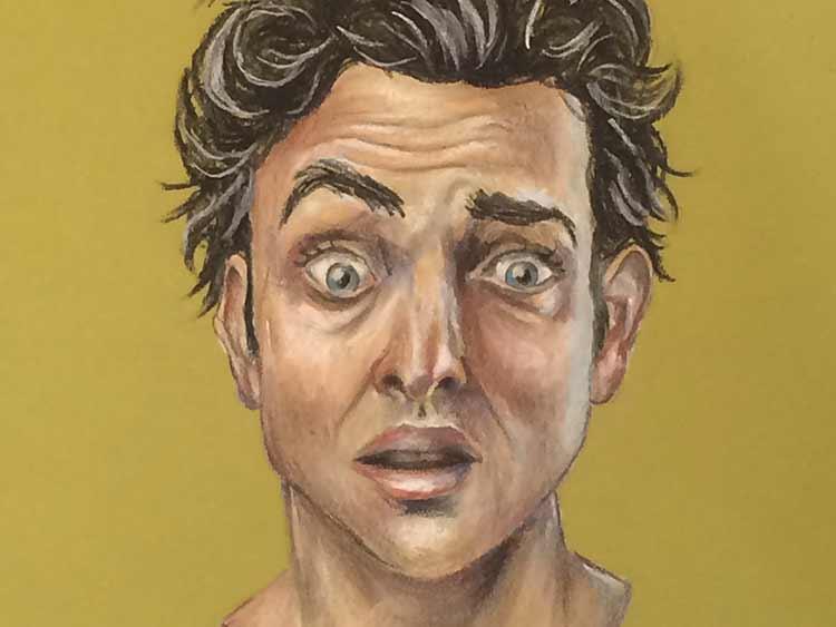 Grumps Pastel Portrait Vancouver Graphic Artist