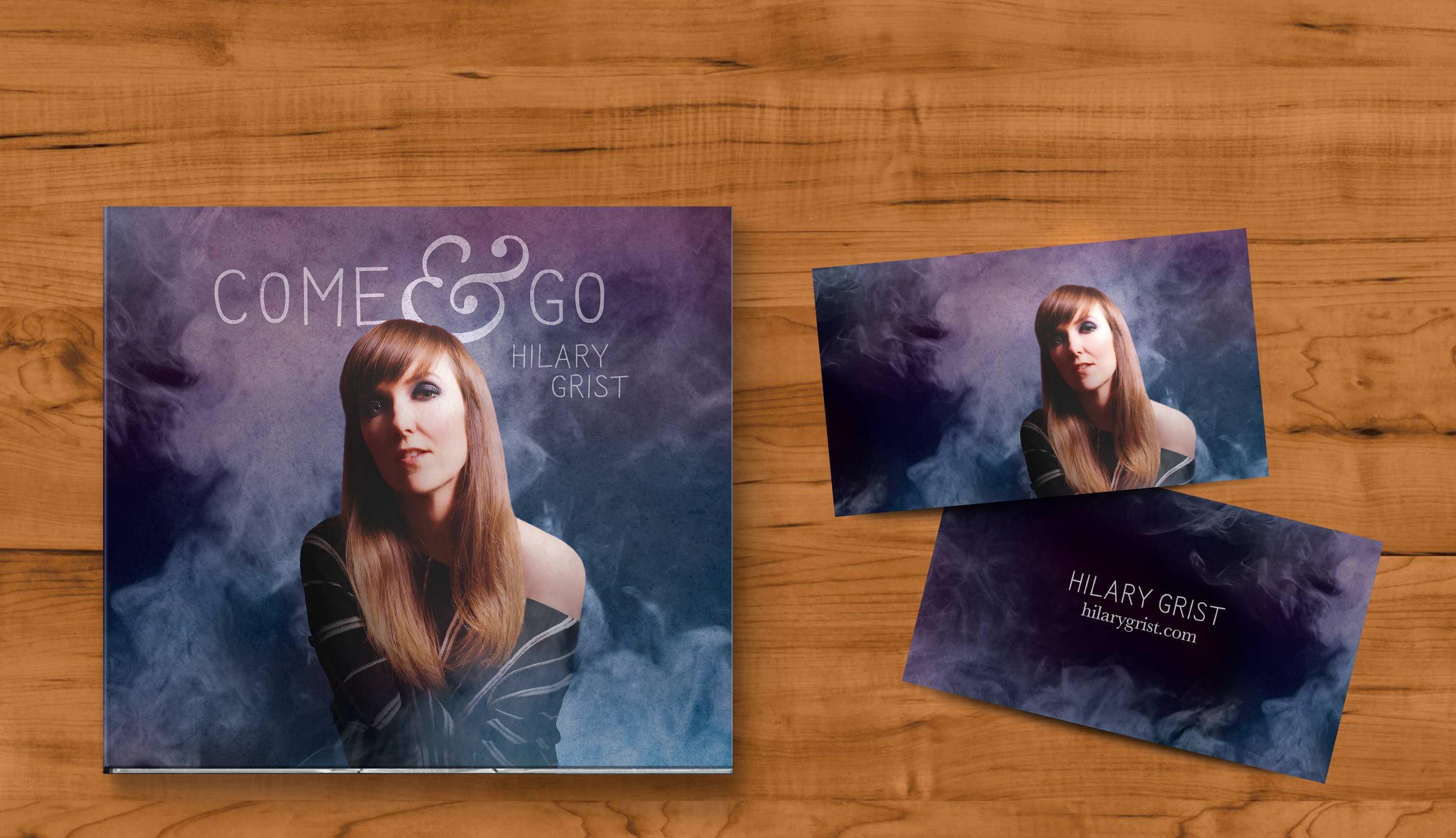 Cover art and branding for singer-songwriter musician Hilary Grist