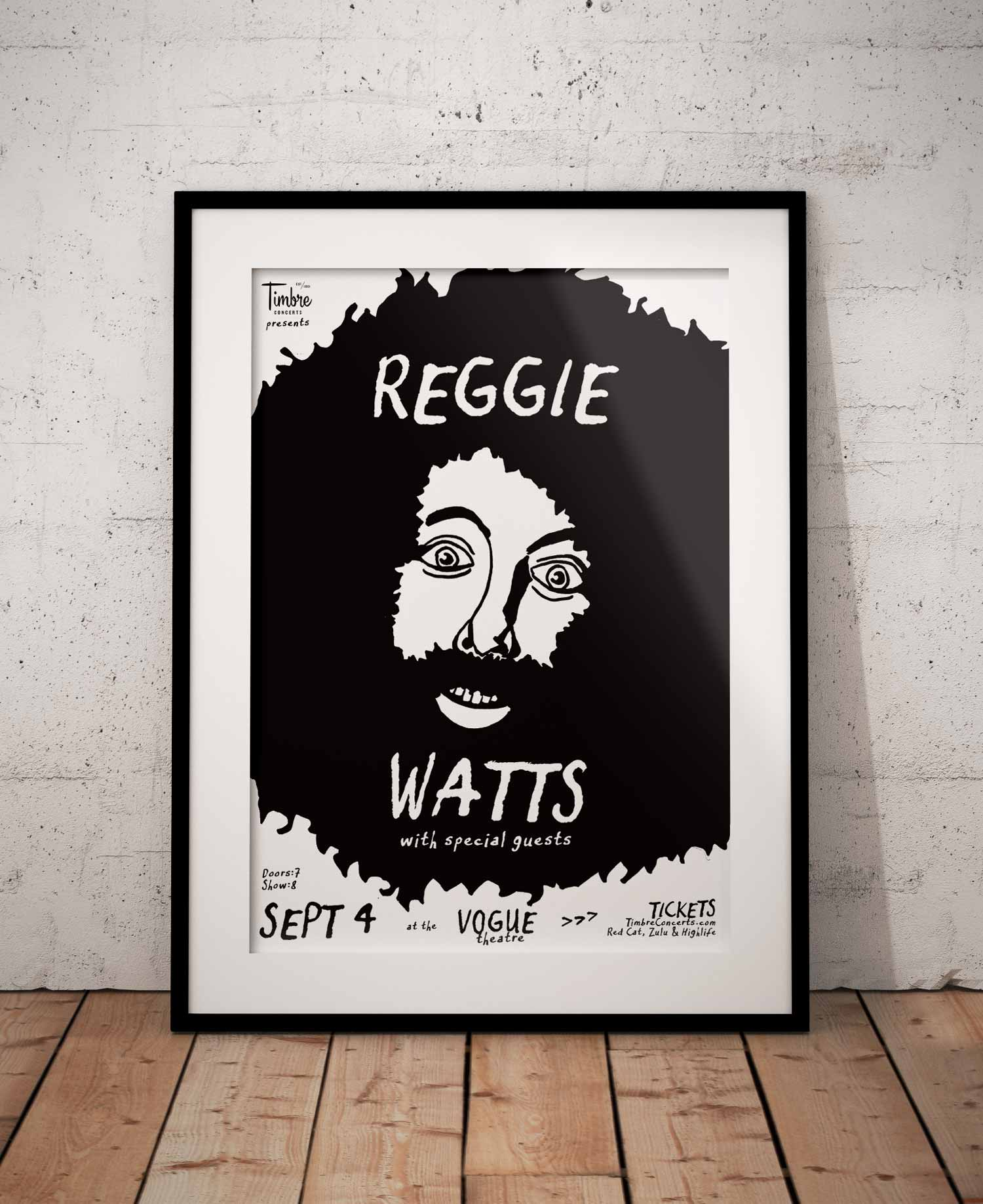 Illustration and graphic design for comedian and musician Reggie Watts