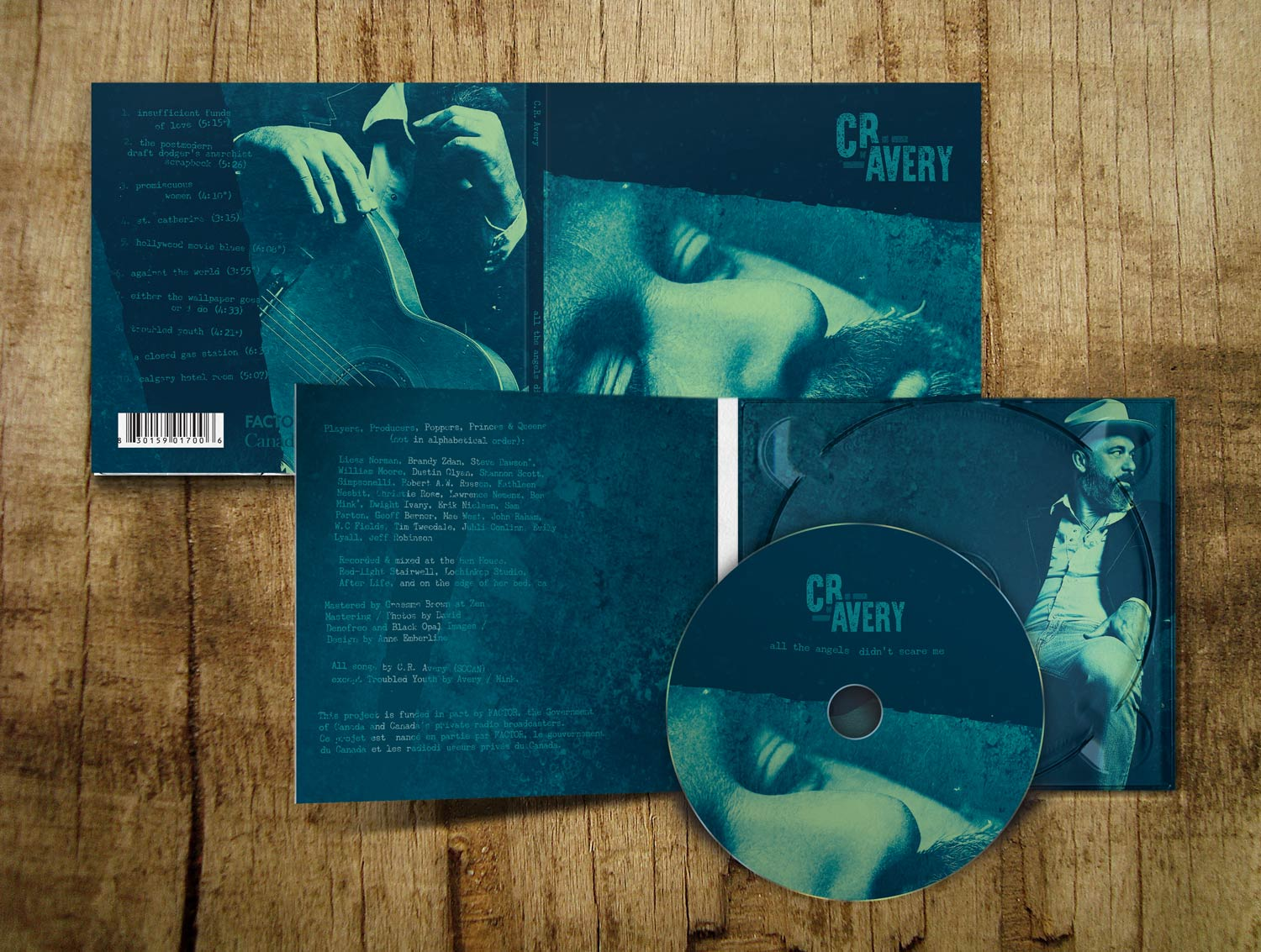 CR Avery CD Package Design