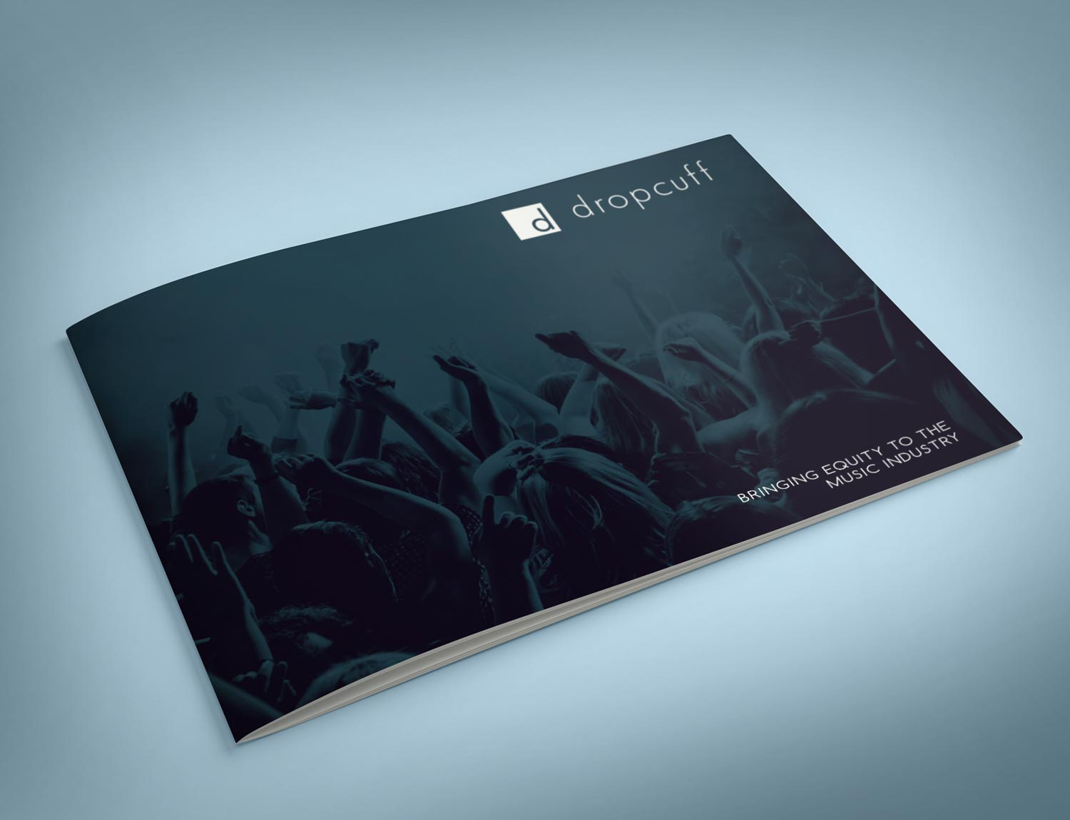 Investor package layout and graphic design for Dropcuff