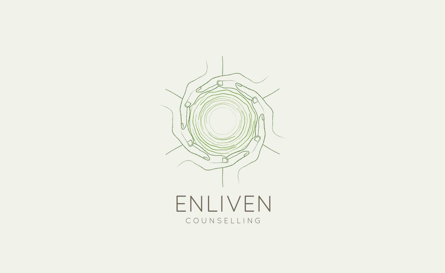 Logo and branding for Enliven Counselling