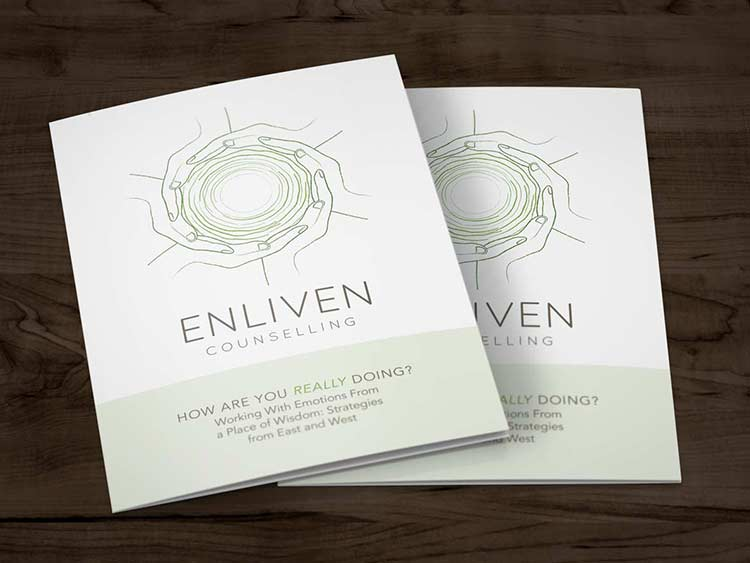 Enliven Logo, Brocure, and Business Card Design