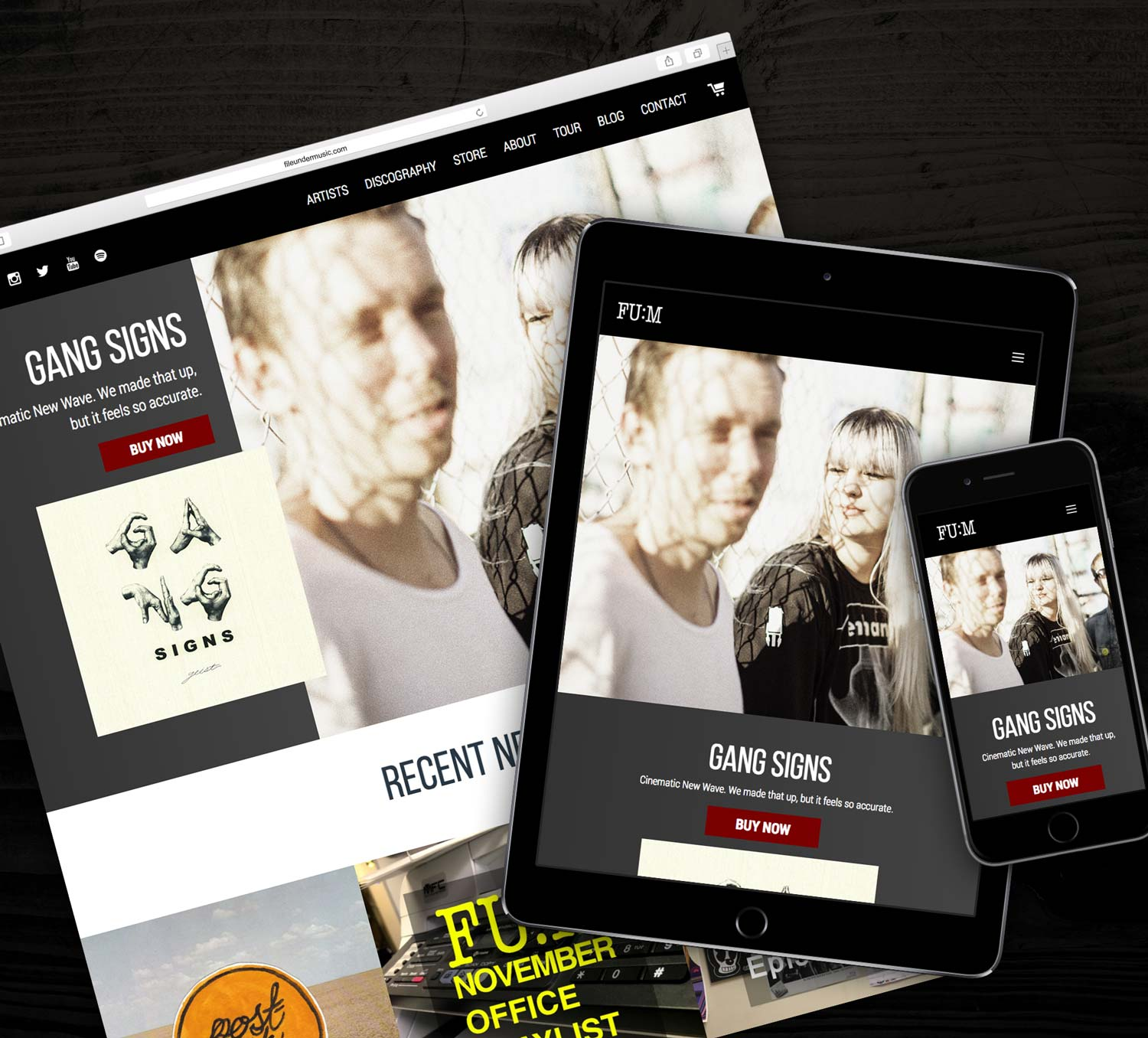 Responsive eCommerce website for File Under Music