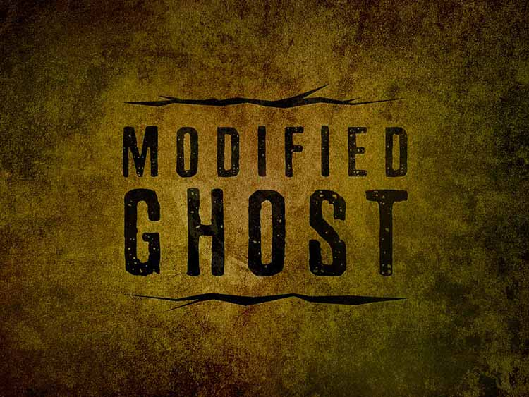 Modified Ghost Music Graphic Design Logo