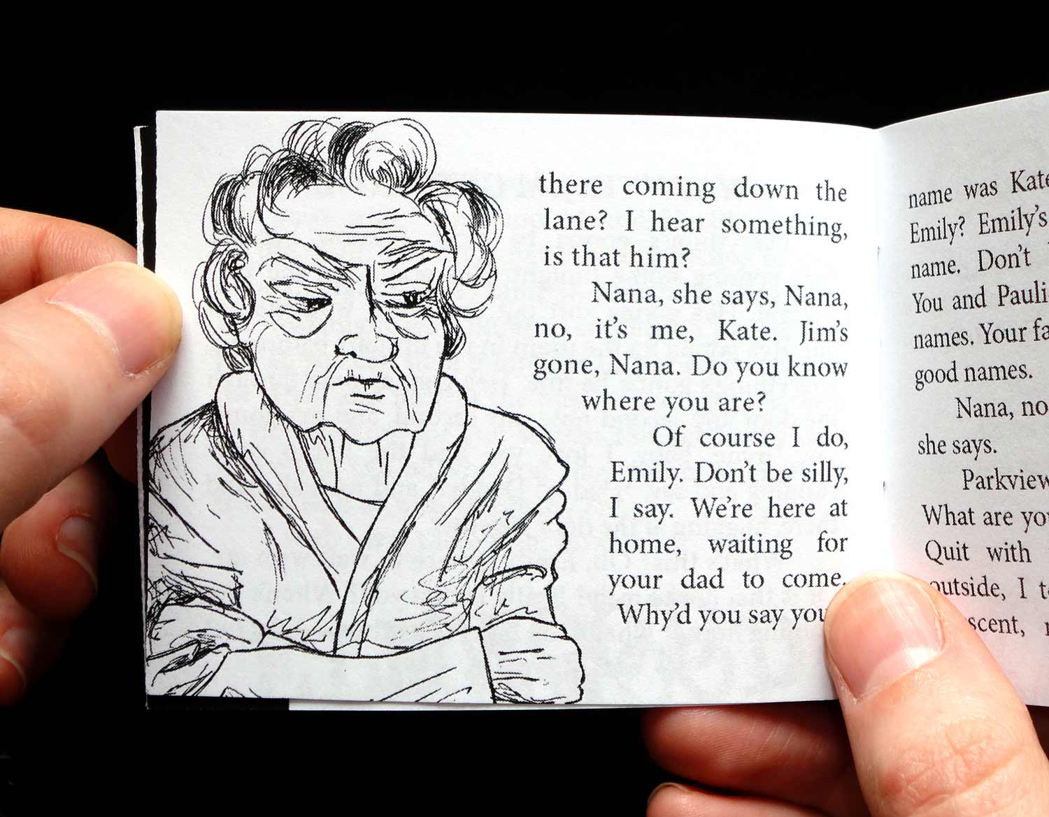 Hand-illustrated booklet