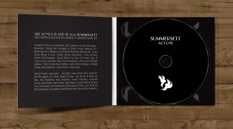 Album packaging for Summersett